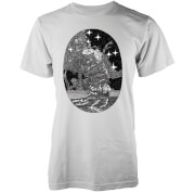 Abandon Ship Men's Skeleton At Sea T-Shirt - White