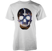 Abandon Ship Galaxy Skull Heren T-shirt - Wit