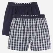 BOSS Hugo Boss Men's 2 Pack Woven Boxer Shorts - Multi