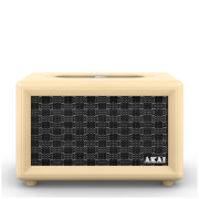 Akai Retro Bluetooth Speaker (2 x 12.5W) - Cream