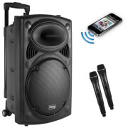 Akai 200W Ultimate Party Bluetooth Speaker (Includes Karaoke Microphone) - Black