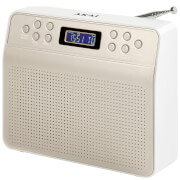 Image of Akai DYNMX Portable DAB Radio with LCD Screen - Champagne