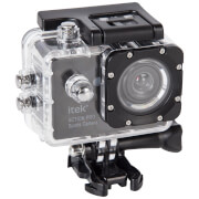 Camera d'Action iTek 1080p Full HD Waterproof Écran de 5cm - Noir