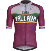 Santini Bergamo Collection Valcava Jersey - Burgundy