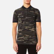 HUGO Men's Dacoby PK Camo Print Polo Shirt - Dark Green