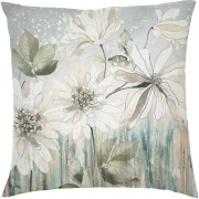 Classical Daisy Cushion - Blue (45 x 45cm)