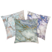 Marble Print Cushion - Blue Marbles