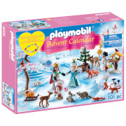 Playmobil Royal Ice Skating Trip Advent Calendar with Children's Bracelet (9008)