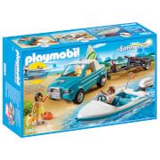 PLAYMOBIL Summer Fun: Pick up con lancha (6864)