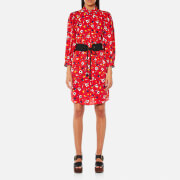 Marc Jacobs Women's Shirt Dress with Belt - Red Multi - US 6/UK 10 - Red
