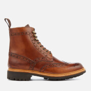 Grenson Men's Fred Hand Painted Leather Commando Sole Lace Up Boots - Tan - UK 11 - Tan