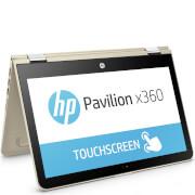 "HP 11-U004NA 11.6"""" Touch-Screen Laptop (Intel Pentium N3710, 4GB, 1TB, 1.6GHz, Windows 10) - Gold - Manufacturer Refurbished"