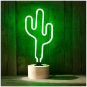 Kaktus Neon Tischlampe – Grün