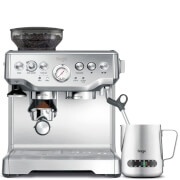 Sage by Heston Blumenthal BES875UK Barista Express Bean-to-Cup Coffee Machine with Temperature Control Milk Jug - Stainless Steel