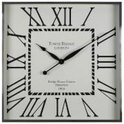Fifty Five South Kensington Townhouse Wall Clock - White/Black