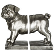 Fifty Five South Pug Bookends - Antique Silver (Set of 2)