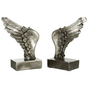 Fifty Five South Wing Bookends - Antique Silver (Set of 2)