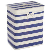 Fifty Five South Kankyo Bamboo Nautical Laundry Hamper - Blue/White