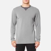 FALKE Ergonomic Sport System Men's Fashion Long Sleeve Performance Top - Grey Heather - L - Grey