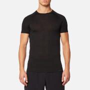 FALKE Ergonomic Sport System Men's Short Sleeve Silk Wool T-Shirt - Anthracite Melange - L - Black