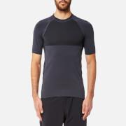 FALKE Ergonomic Sport System Men's Short Sleeve Performance T-Shirt - Platinum - L - Black