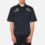Our Legacy Men's Short Sleeve Satin Shirt - Navy Washed Satin
