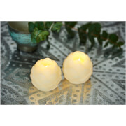 Sirius Helene LED Wax Candle Set with Timer - Almond