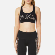 Puma Women's Powershape Forever Logo Sports Bra - Puma Black/Copper Cat