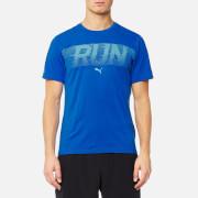 Puma Men's Run Short Sleeve T-Shirt - Lapis Blue Heather