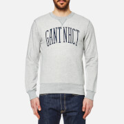 GANT Men's Crew Neck Sweatshirt - Light Grey Melange