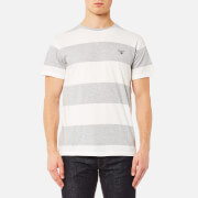 GANT Men's Contrast Barstripe Short Sleeve T-Shirt - Light Grey Melange