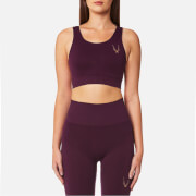 Lucas Hugh Women's Core Technical Knit Classic Sports Bra - Aubergine - L - Purple