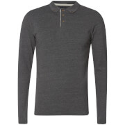 Advocate Men's Ralling Long Sleeve Polo Shirt - Charcoal Melange - L - Grey