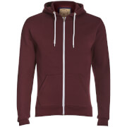 Advocate Men's Berkley Zip Through Hoody - Burgundy