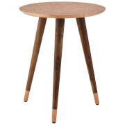 Fifty Five South Boho Carve Side Table - Metal/Copper Finish