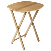 Fifty Five South Snack Tropical Hevea Wood Curved Table - Natural