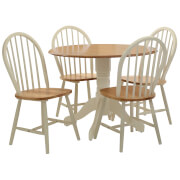 Fifty Five South Vermont Oakland Five Piece Table Set - Ivory