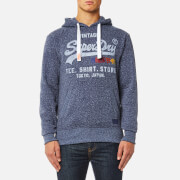 Superdry Men's Sweat Shirt Shop Surf Hoody - Chambray Blue Snowy