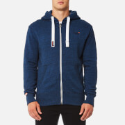 Superdry Men's Orange Label Zip Hoody - Deep Navy Grit