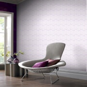 Superfresco Easy Oiti Chevron Geometric Wallpaper - Grey/Purple