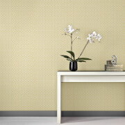 Superfresco Easy Helice Geometric Wallpaper - Yellow