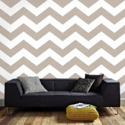 Superfreso Easy Chef Chevron Geometric Wallpaper - Taupe