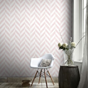 Superfresco Easy Italie Geometric Wallpaper - Pink/White