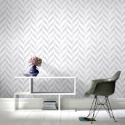 Superfresco Easy Italie Geometric Wallpaper - Silver/White