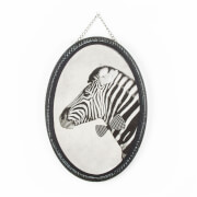 Art For The Home Ziggy Zebra Vintage Printed Canvas Wall Art