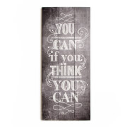 Art For The Home 'You Can' Typography Wall Art Print On Wood