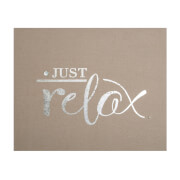 Art For The Home Just Relax Embellished Fabric Canvas Wall Art