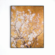 Art For The Home Oriental Blossom Hand Painted Framed Canvas