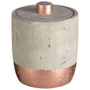 Fifty Five South Neptune Cotton Jar 400ml - Concrete/Copper