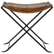 Fifty Five South Buffalo Folding Stool - Leather/Iron